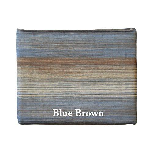 Unique Multi-Color Ombre 3 Piece Kitchen Curtain Window Set (Blue Brown) front-863646