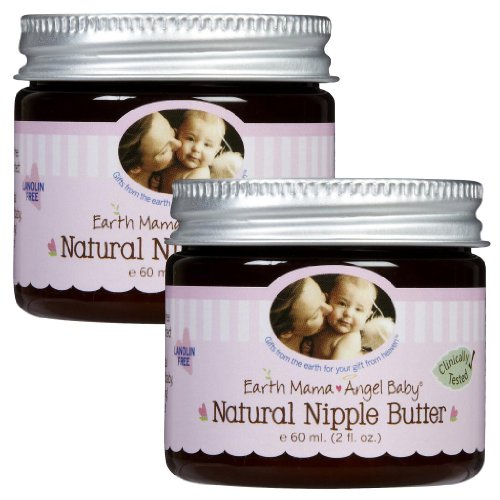 Earth Mama Angel Baby Natural Nipple Butter, 2 Pack - 2 Oz. (60 Ml)