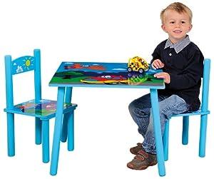 Kesper 17741 tavolo per bambini con 2 sedie in mdf - Tavolo e sedie bambini ...