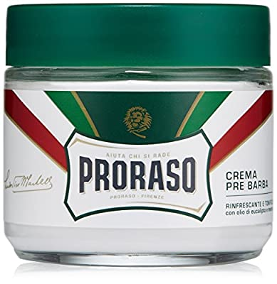Proraso Pre-Shave Cream, Refreshing and Toning, 3.6 oz (100 ml)