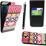 Samsung GALAXY S4 i9500 Printed PU Leather Magnetic Flip Protection Case Cover Wallet Pouch+ Screen Protector + Stylus