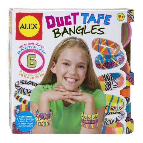 Duct Tape Fashion Jewelry   Pink/Black Bracelet