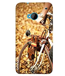 Omnam Front Cycle Tyre Printed Designer Back Cover Case For HTC One M7