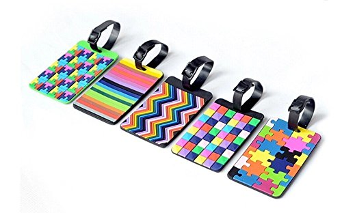 colorful-id-tags-tetris-pattern-durable-rubber-secure-tags-for-luggage-and-sports-gear-bags-set-of-5