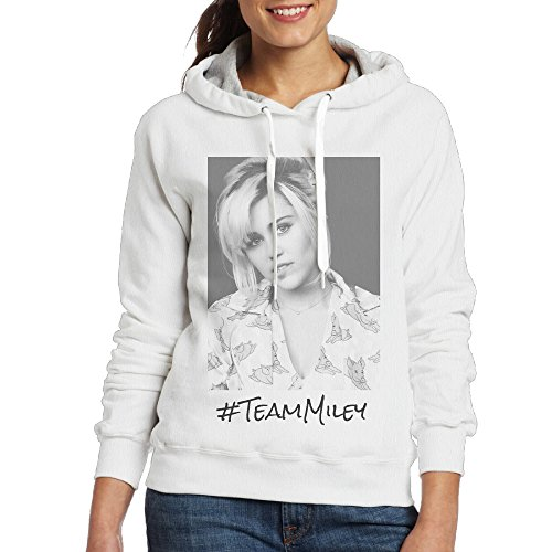 [Team Miley Miley Cyrus On The Voice Women Crewneck Sweatshirt White] (Billy Ray Cyrus Costumes Ideas)