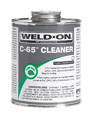 Weld-On Clear PVC CPVC ABS Styrene Cleaner