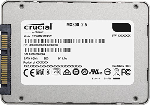 Crucial MX300 275GB SATA 2.5 Inch Internal Solid State Drive - CT275MX300SSD1