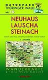 Wanderkarte Neuhaus, Lauscha, Steinach: Mit Katzhütte, Lichte, Piesau, Schmiedefeld, Steinheid, Haselbach und Scheibe-Alsbach. Mit Skiloipen und Radrouten. Maßstab 1:30.000.