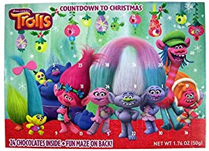 Dreamworks Trolls 2016 Advent Christmas Countdown Calendar with 24 Chocolates, 1.76 oz (The Troll Creatures)