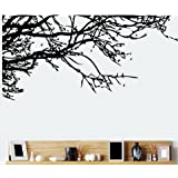 TRURENDI Stunning Tree Branch Removable Wall Art Sticker Vinyl Decal Mural Home Decor (DESIGN 1, 1)