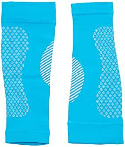 Manchon de compression mollet Full Force, sans pied, couleur bleu clair, M