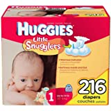 Huggies Supreme Little Snugglers, Size 1 (Up to 14 Lbs.), 216 Ct.