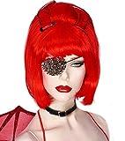 New New Funky Punk Black Rivet Studs Single Eye Patch Mask Pirate Halloween Cosplay