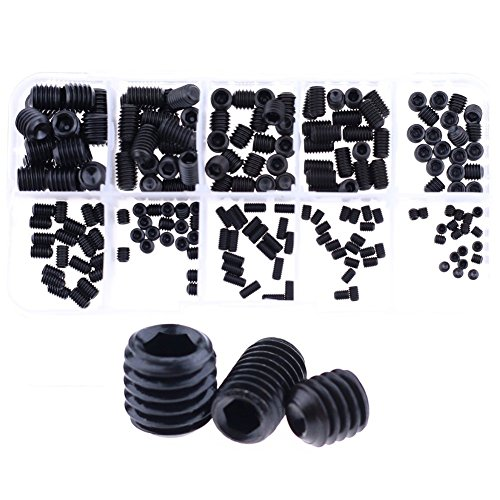 hilitchi-200pcs-m3-4-5-6-8-allen-head-socket-hex-grub-screw-set-assortment-kit-with-plastic-box-129-