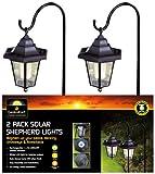 Lot de deux lanternes solaires en fer forgé pour le jardin - Import Royaume Uni...