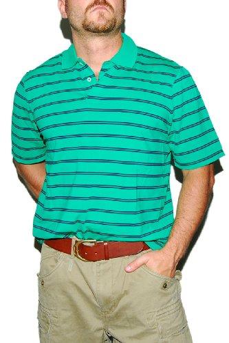 Ralph Lauren Rlx Mens Golf Athletic Sport Gym Polo Shirt Green Black Stripe Xxl
