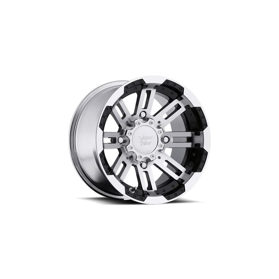 Vision Warrior 14 Machined Black Wheel / Rim 4x110 with a 10.2mm Offset and a 86 Hub Bore. Partnumber 375 148110BW4