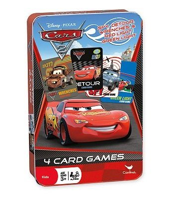 Disney Pixar Cars 2, Set of 4 Card Games in Collectible Storage Tin - 1