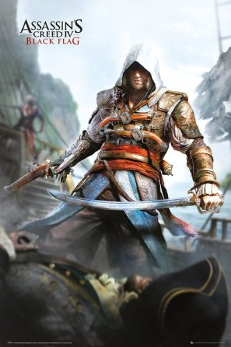 MoviePostersDirect -Maxi poster, soggetto: Assassins Creed 4 (Black Flag), 61 cm x 91,5 cm