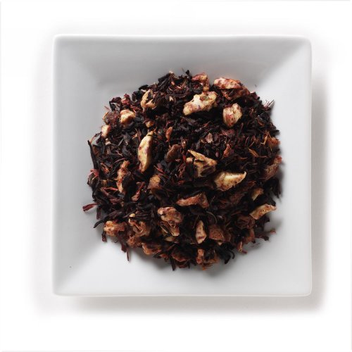 Mahamosa Herbal Flavored Tea Blend And Tea Filter Set: 4 Oz Peach Melba Herbal Tea, 100 Loose Leaf Tea Filters (Bundle- 2 Items)(Tea Ingredients: Peaches, Hibiscus, Apple Bits, Elderberries, And Sunflower Petals With Peach Cream Flavor)