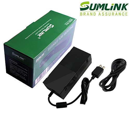 SUMLINK AC Adapter Power Supply Charger Cord for Xbox One Auto Voltage (Black) (Xbox One Ac Adapter Microsoft compare prices)