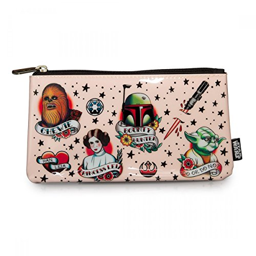Loungefly Epic Star Wars Tattoo Flash Print Makeup Pouch
