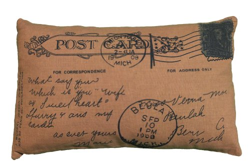 Vintage Style Postcard Design Decorative Throw
