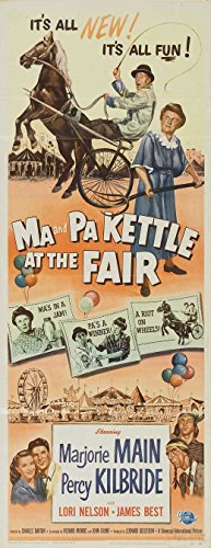 Ma and Pa Kettle at the Fair Poster Movie Insert B 14 x 36 Inches - 36cm x 92cm Marjorie Main Percy Kilbride James Best Lori Nelson Esther Dale (Movie Insert compare prices)