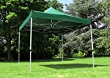 Standard 3m x 3m Foldable Pop Up Gazebo - Green (Gazebo - frame and roof only)