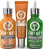 Yalmeh Super Youth-Anti Aging Serums The Best Organic Vitamin C Serum For Face. 20% Vitamin C + E + Hyaluronic Acid Serum With Natural Ingredients On The Market.Include One Free 15G Vitamin C Lotion.