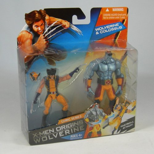 Picture of Hasbro Wolverine Deluxe Action Figures - WOLVERINE with COLOSSUS LAUNCHER (B0028Y5STO) (Hasbro Action Figures)