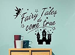 Fairy tales do come true cute playroom sticker nursery vinyl saying lettering wall art inspirational sign wall quote decor