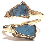 LUXDIVINE ( ラックスディバイン ) アメリカ の キュート ハンドメイド ターコイズ ラップ リング 日本 サイズ 約 16 号 ~ 17 号 ( USA サイズ 7.5 ) Turquoise Wrap Ring 16  トルコ石 ゴールド トルコストーン rings 海外 ブランド