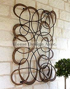 large indoor outdoor mingling circles wall art decor plaque patio garden metal. Black Bedroom Furniture Sets. Home Design Ideas
