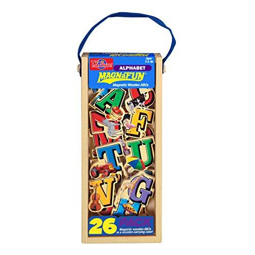 T.S. Shure Alphabet Letters Wooden Magnets 26 Piece MagnaFun Set