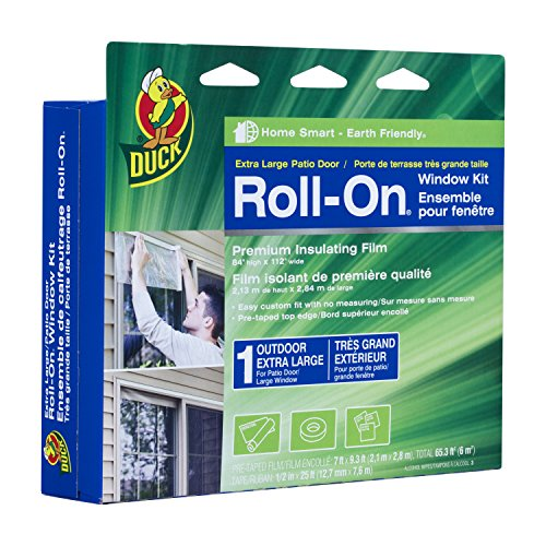 Duck Brand 281070 Roll-On Outdoor Extra Large Window/Patio Door Premium Insulating Film Kit, 84-Inch x 112-Inch (Window Insulation Kit Outdoor compare prices)