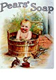 PEARS SOAP CHILD IN TUB BATHROOM METAL SIGN LARGE 12X16in 30x40cm