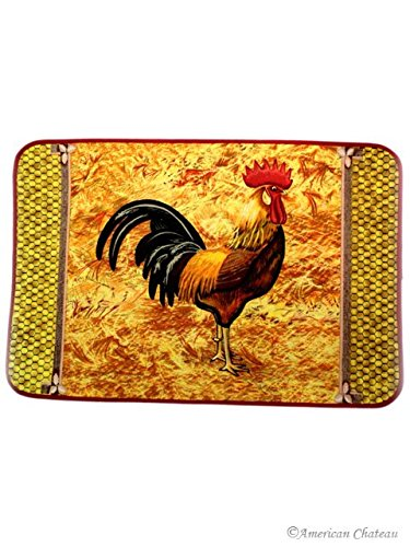 French Country Kitchen Hen Rooster Doormat 26 By 17 Decor Kitchen Mat Rug