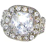 My Fave! Looks Real! Quality Made in Usa, Cz Stones, Size 11, in Crystal with Silver Finish