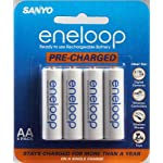 Sanyo Eneloop AA NiMH Pre-Charged Rechargeable Batteries - 4 Pack