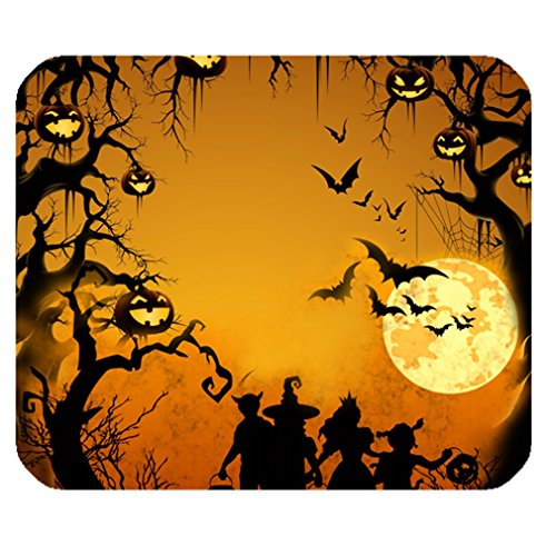 Funny Happy Halloween Elf Kids Jack-O'-Lantern Rectangle One Size Mouse Pad Mousepad front-974925