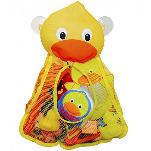 Momma Duck Bath Duck Best Bath Toy Organizer & Kids Shower Caddy Fun Baby Gift Baby Tub Bathroom Storage Solution perfect for Baby Toys 100% Life Time Guarantee