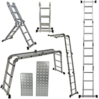 Arksen 12.5-Foot Multi-Task Folding Ladder Platform with 2 FREE Plate