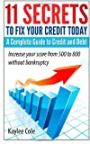 51A Sa92frL. SL160  11 Secrets to Fix Your Credit Today A Complete Guide to Credit And Debt: Increase your score from 500 to 800 without bankruptcy