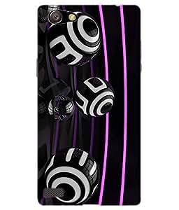 Dukancart 3D Design black Back Cover for Oppo Neo 7 DCON70857