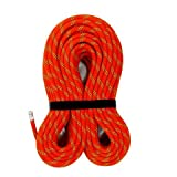MudFog UIAA Certified 300ft Nylon Kernmantle Red Static Rope 10.5mm - for Rock Climbing, Rappelling, Canyoneering, Rescue, Hauling and Mountaineering (Color: Red, Tamaño: 10.5mm x 300ft)