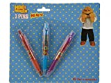 Kids Childrens 3 x Monster High Ball Point Pens School Stationery Party Set