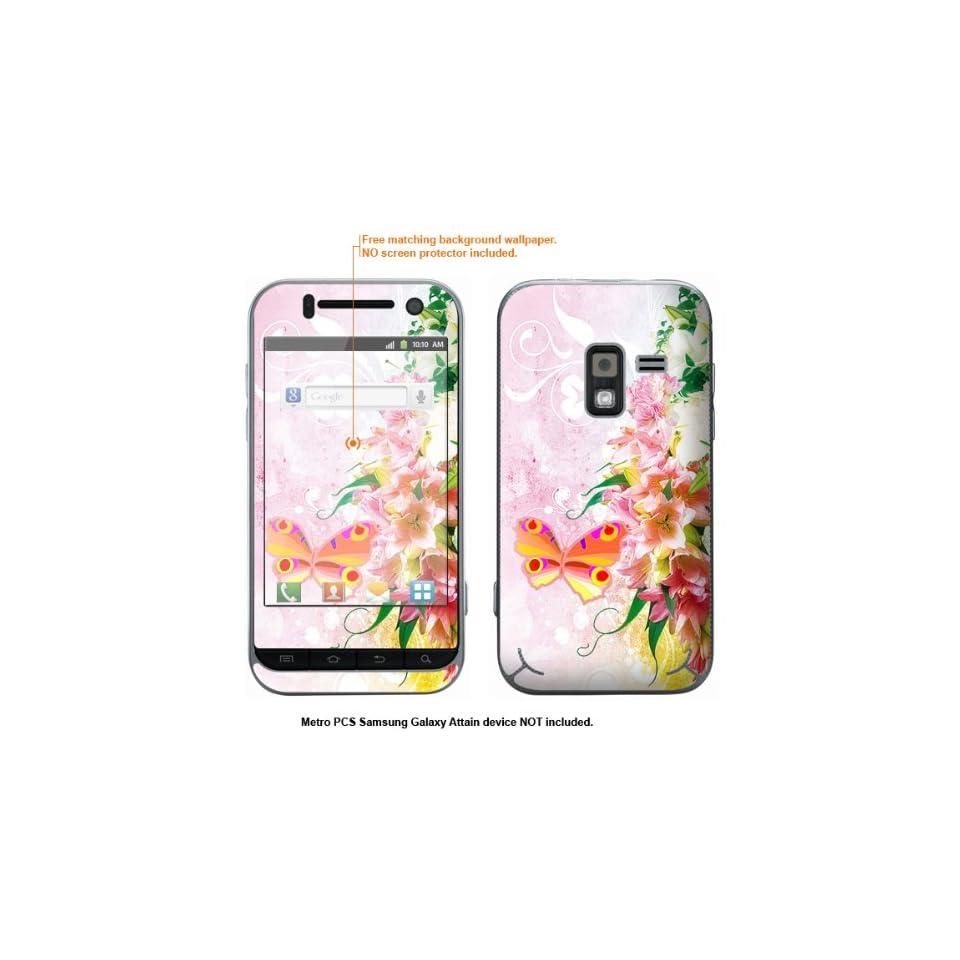 Protective Decal Skin Sticker for Metro PCS Samsung Galaxy Attain 4G case cover Attain 611