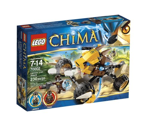 Lego Chima Lennox Lion Attack 70002 back-900559