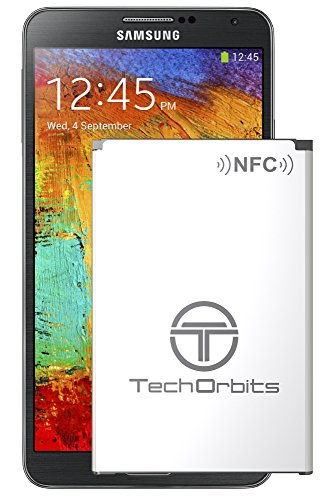 Samsung Galaxy Note 3, TechOrbits replacement 3200mAh Li-ion Battery pack for Galaxy NOTE 3 III N9000 N9005 LTE AT&T N900A Verizon N900V Sprint N900P T-Mobile N900T NFC/googlewallet [3 Year Warranty] (Galaxy Note 3 At T compare prices)